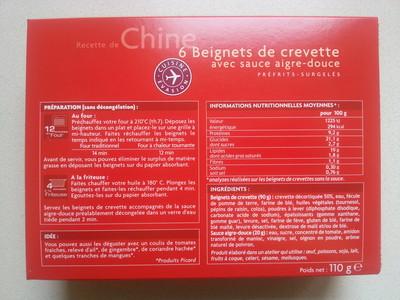 6 beignets de crevette avec sauce aigre-douce - 4
