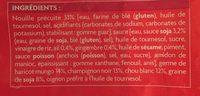 Nouilles sautées à la chinoise, portionnable - Ingredients - fr