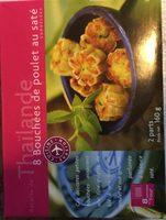 8 bouchées de poulet au saté - Ingrediënten