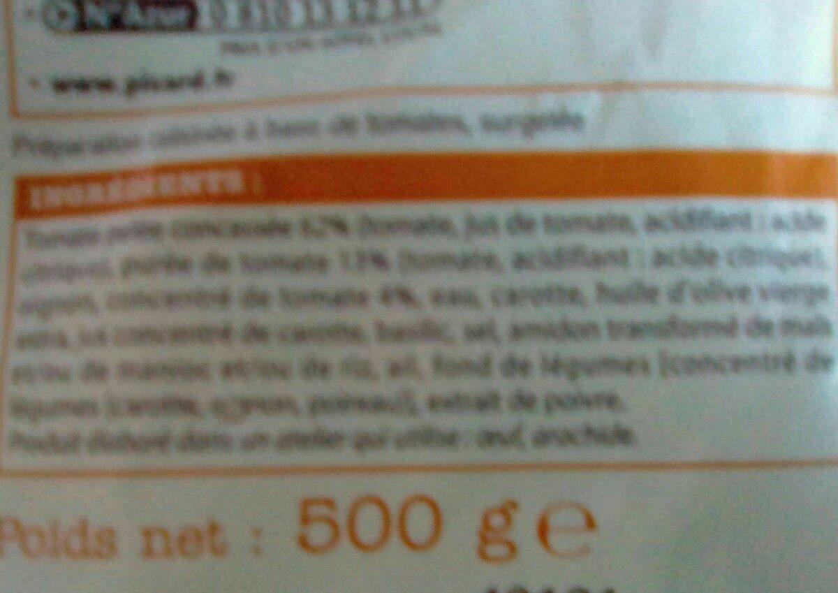 Ma sauce tomate - Ingredienti - fr