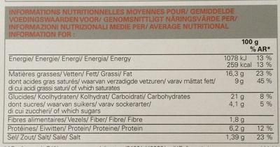 Flammekueche - Voedingswaarden - fr