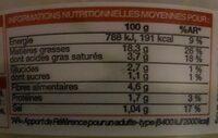 Guacamole Épicé - Informations nutritionnelles - fr