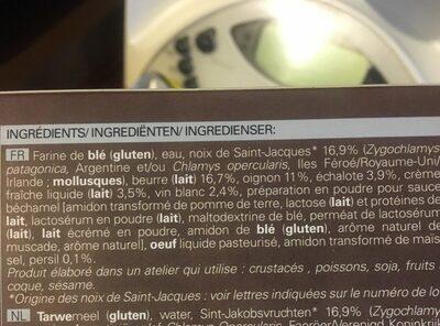 4 paniers noix de st Jacques à la bretonne - Ingrédients