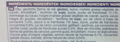 Sorbet Citron Framboise - Ingrédients - fr