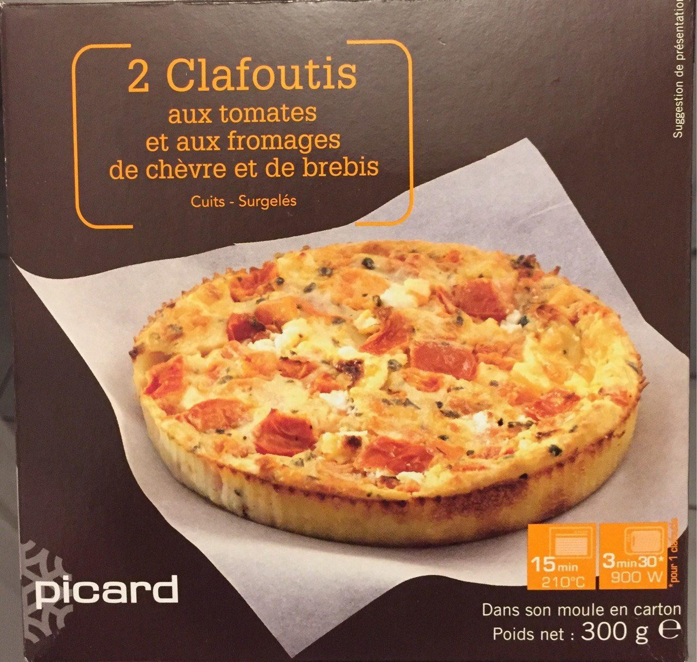 2 Clafoutis aux Tomates et aux Fromages de Chèvre et de Brebis - Produit - fr