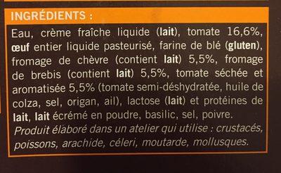 2 Clafoutis aux Tomates et aux Fromages de Chèvre et de Brebis - Ingrédients - fr
