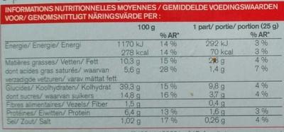 6 Pancakes au Lait Entier - Informations nutritionnelles - fr