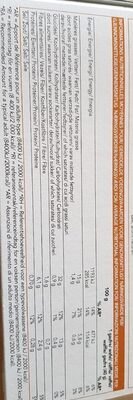 Gaufres surgelées déjà cuites - Nutrition facts - fr