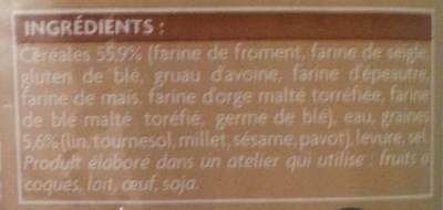 2 demi-baguettes aux céréales - Ingrediënten