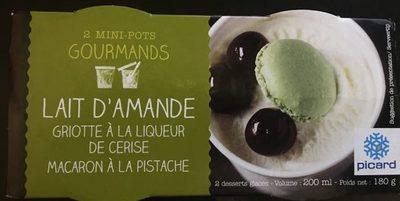 2 Mini-pots Crème Glacée Lait D'amandes Et Griottes, 200ml - Produit
