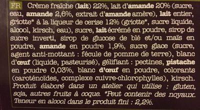 2 Mini-pots Crème Glacée Lait D'amandes Et Griottes, 200ml - Ingredients