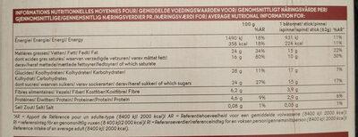 4 batonnets glacés Chocolat Picard - Informations nutritionnelles