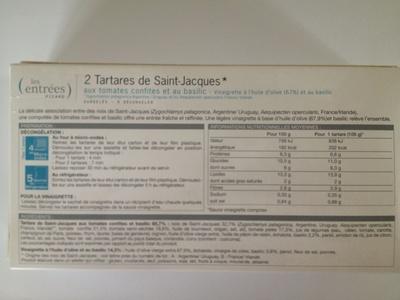 2 tartares de saint-jacques - Ingrédients