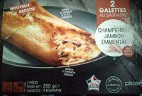 Galette au sarrasin - Champignon, jambon, emmental - Product - fr