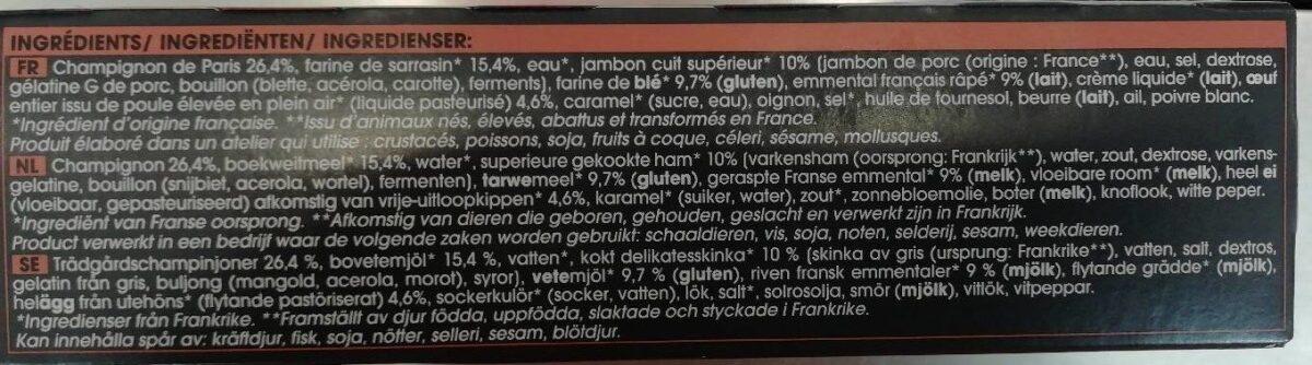 Galette au sarrasin - Champignon, jambon, emmental - Ingrediënten - fr