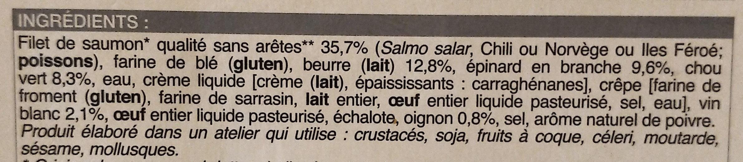 Saumon en Croûte - Ingrédients - fr
