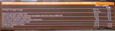 Pastilla poulet legumes - Informations nutritionnelles