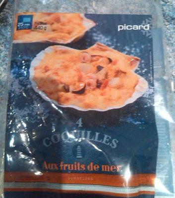 4 coquilles aux fruits de mer - Product - fr