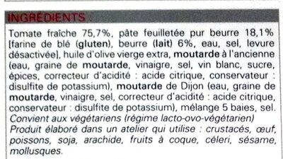 Tartelettes fines à la tomate - Ingredients - fr