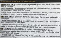 2 Tartares de Saumon Atlantique - Ingrédients