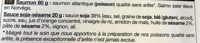Tataki de Saumon Atlantique - Ingredients
