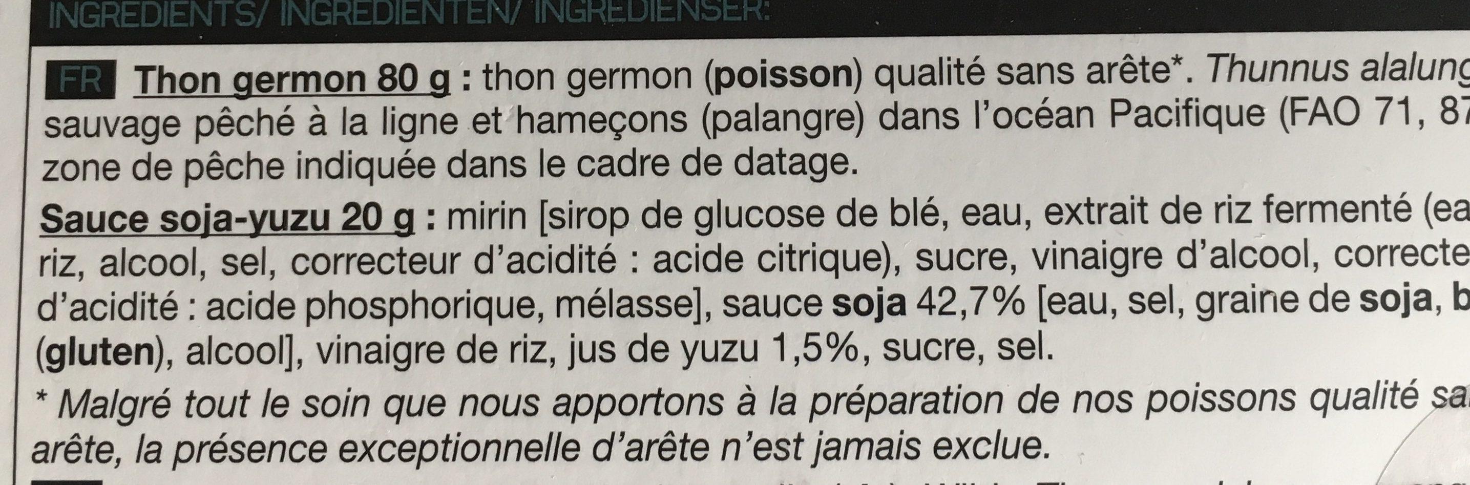 Sashimi Thon Germon - Ingredients