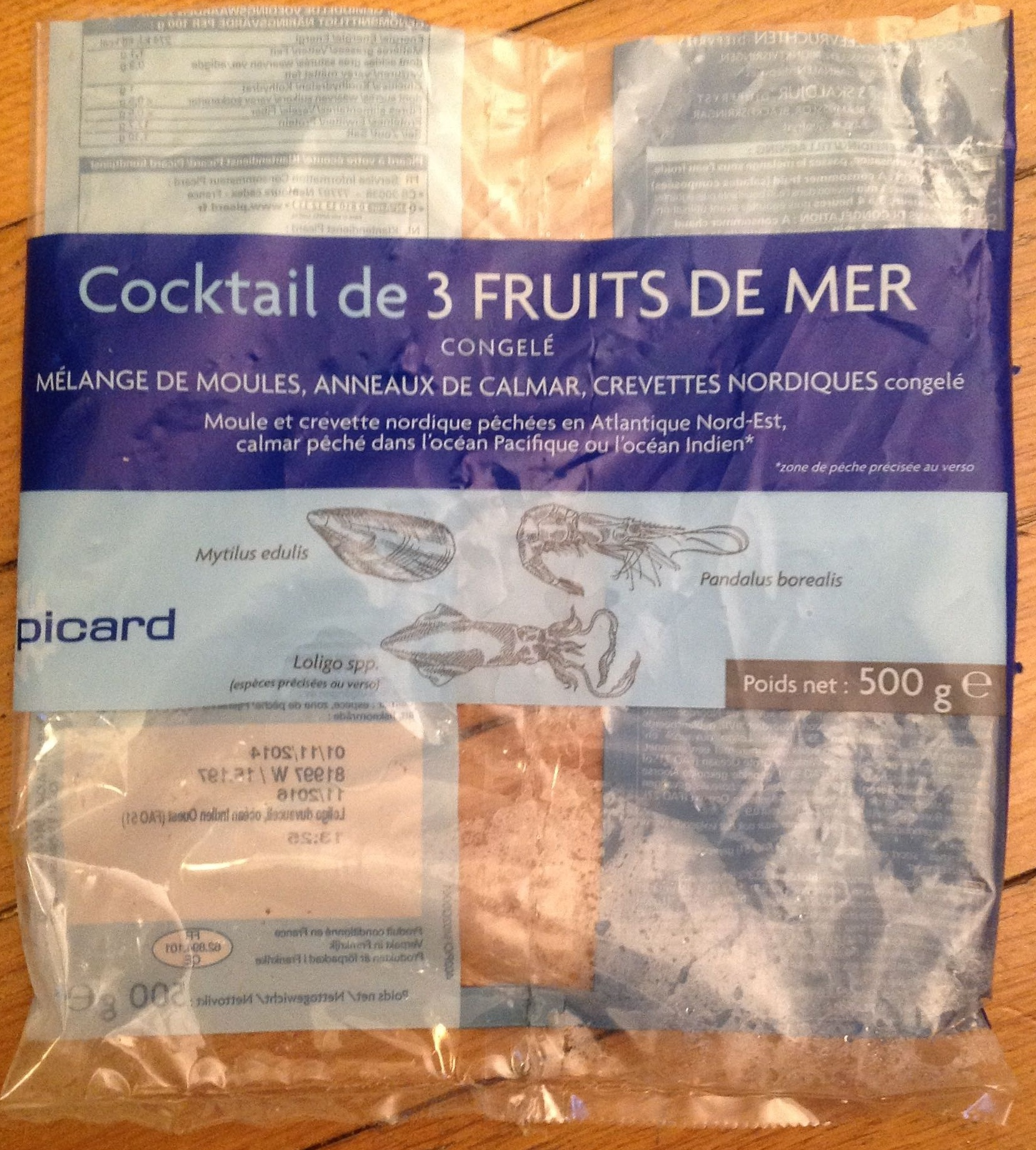 Cocktail de 3 fruits de mer picard 500 g - Cuisiner cocktail de fruits de mer surgele ...