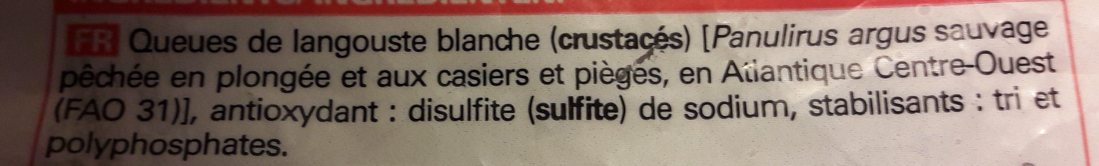 2 Queues de Langouste Blanche Crues - Ingredients