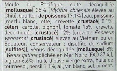 Cocktail de la Mer Cuisiné - Ingredients - fr