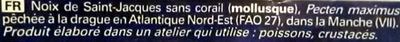 Noix de Saint-Jacques sans corail (France) - Ingrédients - fr