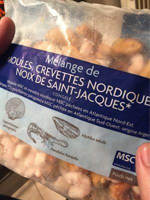 Mélange de Moules, Crevettes Nordiques, Noix de Saint-Jacques MSC - Product