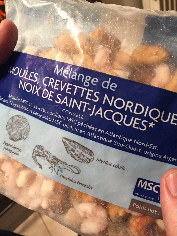 Mélange de moules, crevettes nordiques, noix de saint-jacques - Produit - fr