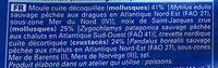 Mélange de moules, crevettes nordiques, noix de saint-jacques - Ingredienti - fr