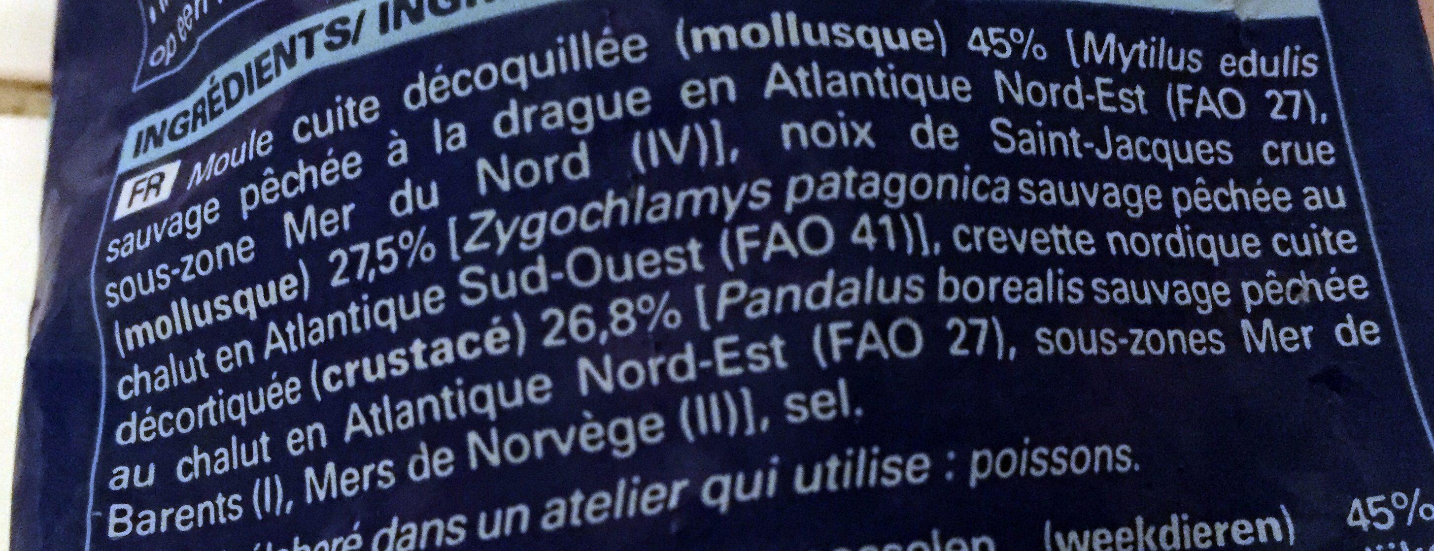 Mélange de moules, crevettes nordiques, noix de saint-jacques - Ingrédients - fr