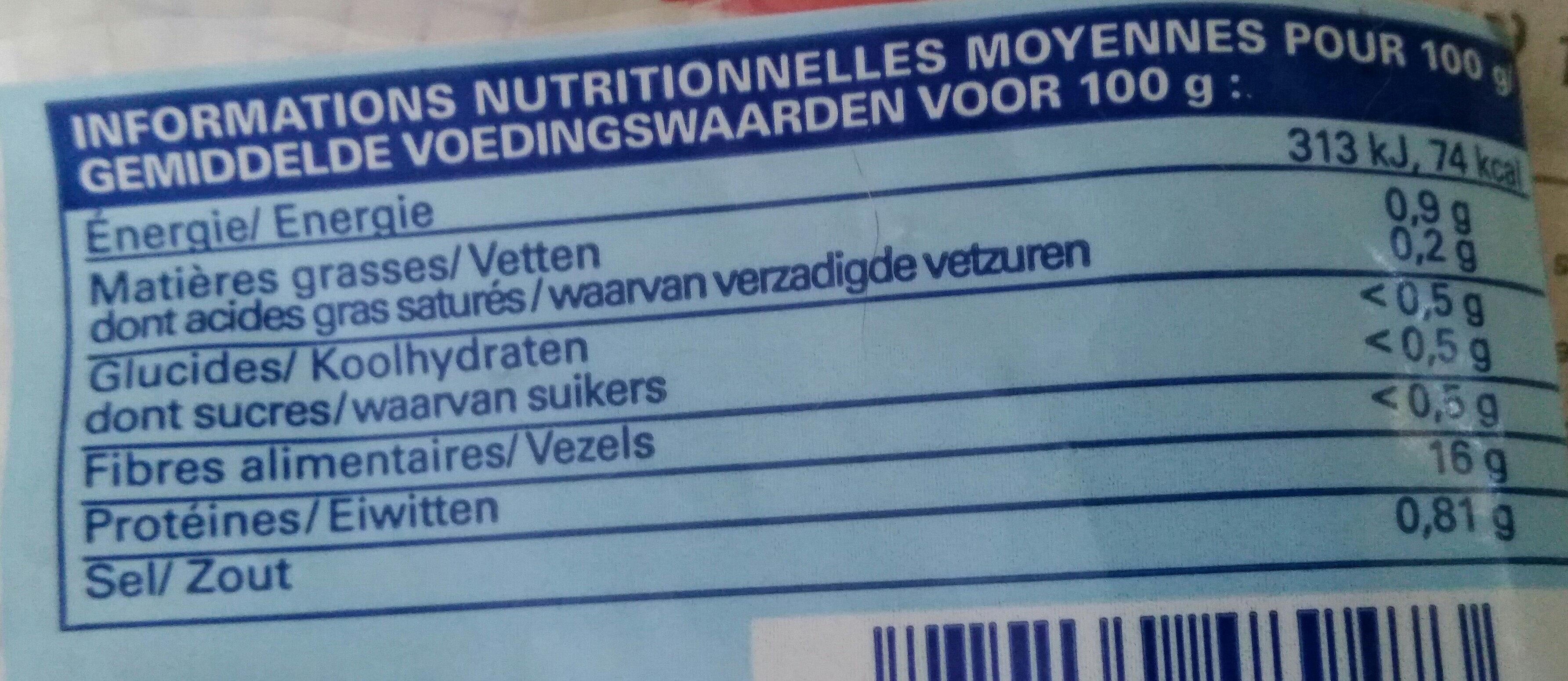 Morceaux de Calmar Géant Cuits - Nutrition facts