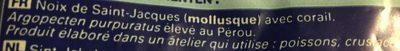 Noix de Saint-Jacques Pérou ASC, avec Corail - Ingredients - fr