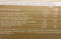 Écrasée de Céleri, Pomme de Terre, Topinambour, à la Truffe Noire 1% - Informations nutritionnelles