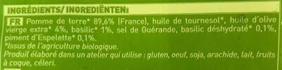 Poêlée de pommes de terre Bio - Ingrédients - fr