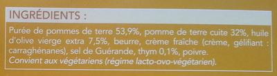 écrasée de pommes de terre à l'huile d'olive (7.5%) - Ingrediënten