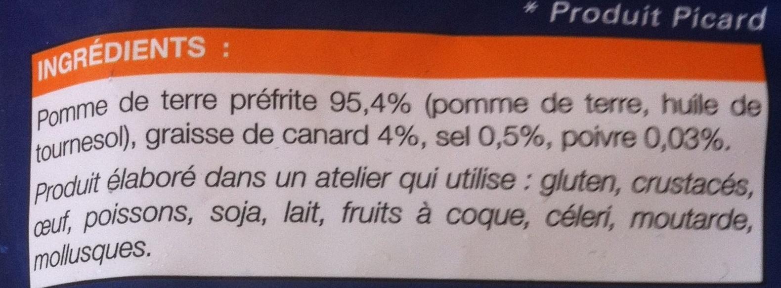 Pommes de terre à la landaise - Ingredients