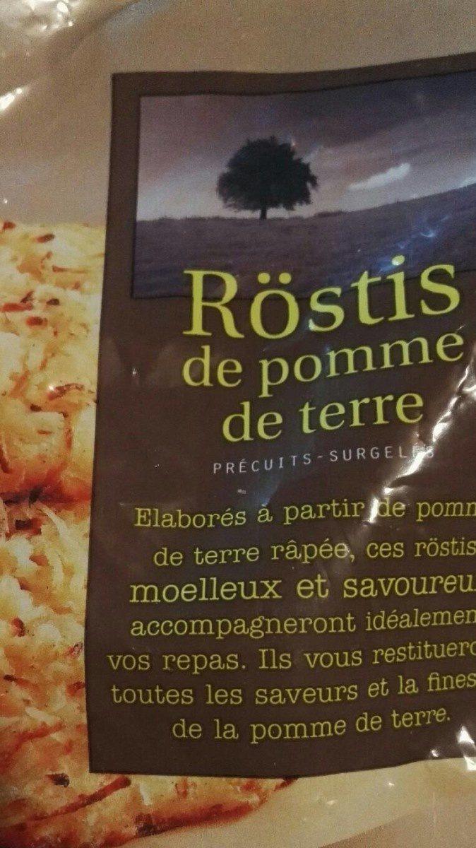Rostis de pomme de terre - Produit