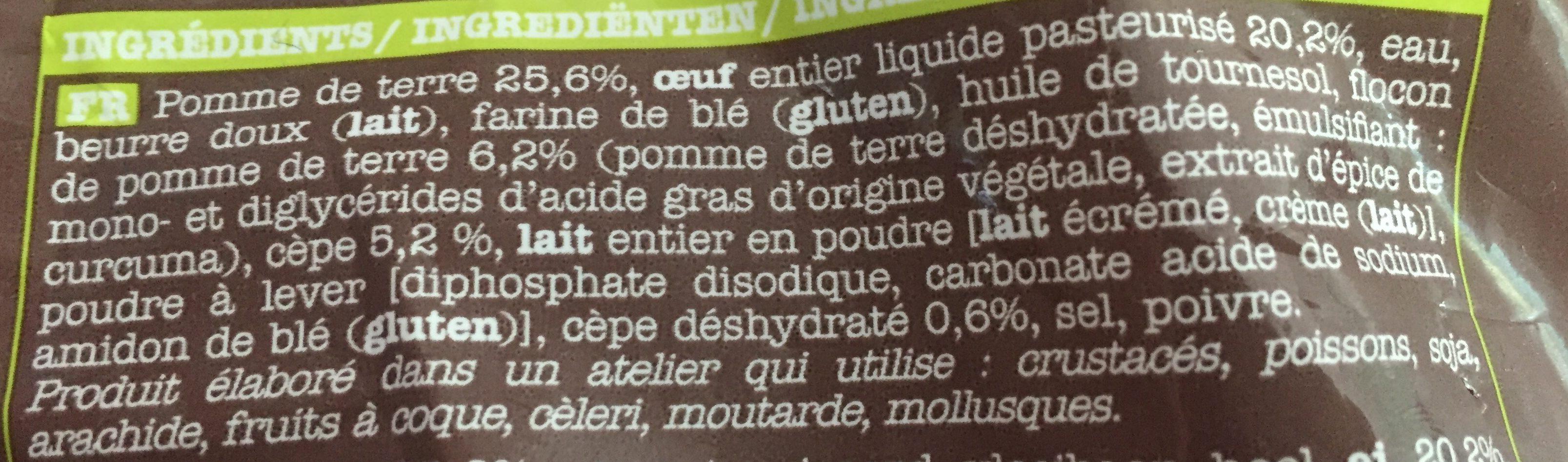 Pommes Dauphines aux Cèpes - Ingrédients - fr