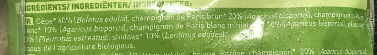 Mélange de champignons - Ingrédients - fr