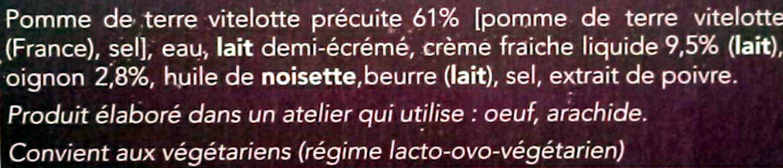 Ecrasée de pomme de terre vitelotte - Ingrédients - fr