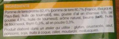 Poêlée de pommes de terre façon rôtissoire - Ingrediënten - fr