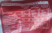 Frites de patate douce - Nutrition facts - fr