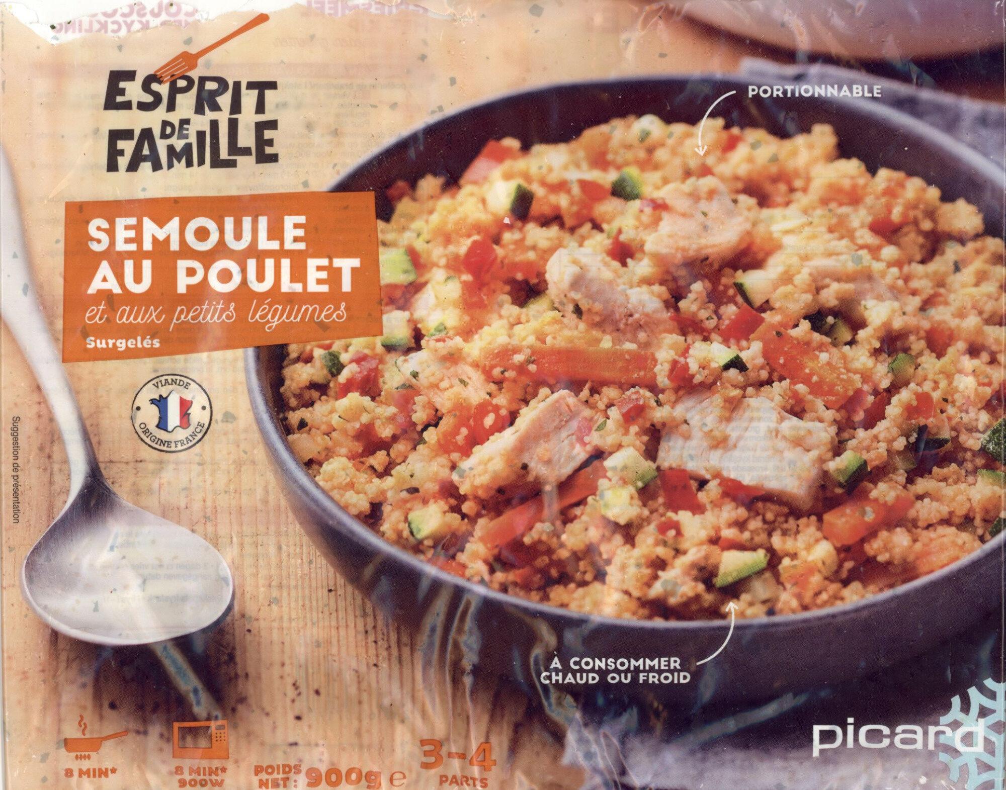 Semoule au poulet et petite légumes - Produit - fr