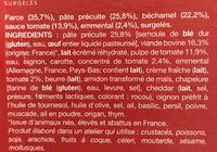 Cannelloni à la bolognaise - Ingredients