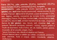 Cannelloni à la Bolognaise - Ingrédients - fr