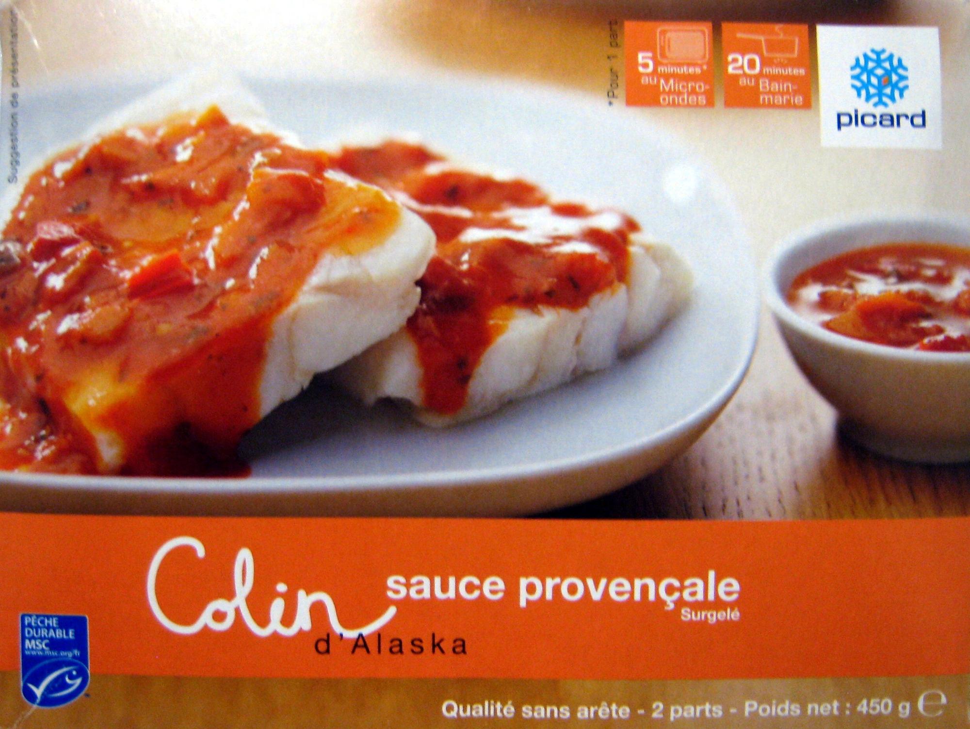 Colin d 39 alaska sauce proven ale surgel picard 450 g - Cuisiner du colin surgele ...